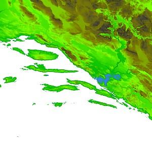 Dalmatia mapped